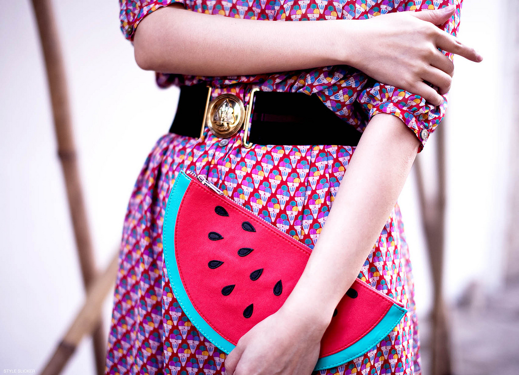 fruit statement clutches