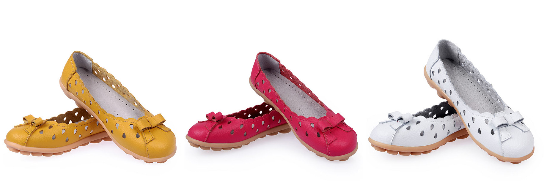 Women's flat flip-on shoes